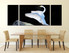 3 piece multi panel art, dining room canvas wall art, swan canvas photography, wildlife canvas print, swan artwork
