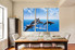 3 piece canvas print, dining room multi panel art, blue sky artwork, fish huge pictures, wildlife decor