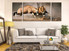 3 piece photo canvas, living room canvas print, waterbuck huge canvas art, animal large pictures, wildlife canvas wall art