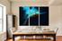 3 piece photo canvas, dining room multi panel art, blue parrot canvas photography, bird canvas wall art, wildlife decor