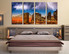 4 piece wall decor, bedroom photo canvas, brown artwork, bridge large pictures, city canvas wall art