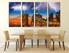 4 piece wall decor, city multi panel art, brown canvas print, thunderstorm photo canvas, dining room canvas wall art