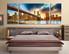3 piece wall decor, bedroom group canvas, brown huge canvas art, city bridge large canvas, city light
