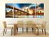 3 piece wall art, dining room art, city canvas art print, bridge large pictures, city bridge huge pictures