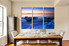 3 piece huge pictures, dining room multi panel art, blue ocean group canvas, ice wall art, sea canvas print