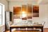 4 piece wall decor, sunrise canvas art prints, orange ocean canvas photography, dining room multi panel art