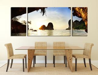 3 piece artwork, ocean wall decor, yellow canvas art prints, dining room canvas wall art, mountain photo canvas