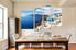4 piece canvas print, dining room artwork, white city group canvas, city wall decor, ocean wall art