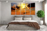 5 piece huge canvas art, bedroom multi panel art, landscape photo canvas, desert art, orange canvas print, sunset huge pictures