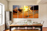 5 piece wall art, dining room group canvas, landscape multi panel canvas, desert large canvas, orange large pictures, sunset artwork