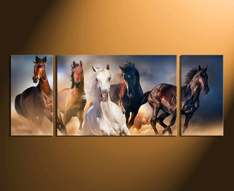 3 piece canvas photography, home decor, horse multi panel canvas, wildlife group canvas, animal wall art