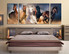 3 piece photo canvas, bedroom multi panel canvas, horse huge pictures, wildlife group canvas, animal canvas print
