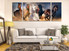 3 piece canvas print, living room multi panel canvas, horse wall art, wildlife canvas photography, animal large pictures