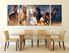 3 piece canvas wall art, dining room multi panel canvas, horse large pictures, animal group canvas, wildlife artwork