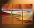 3 piece huge pictures, brown artwork, ocean photo canvas, sunshine canvas art prints, home decor