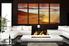 4 piece large pictures, brown artwork, ocean photo canvas, sunshine canvas art prints, living room multi panel art