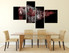 4 piece photo canvas, dining room multi panel art, brown bear huge canvas print, wildlife canvas wall art