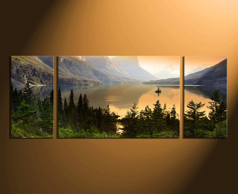 3 piece wall art, home decor, landscape huge canvas print, mountain canvas photography, nature artwork, panoramic art