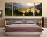 3 piece photo canvas, bedroom large pictures, scenery wall decor, landscape multi panel canvas, green nature canvas print