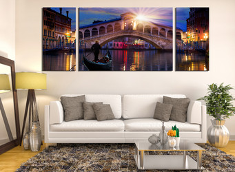 3 piece large pictures, living room huge canvas pictures, sunrise canvas wall art, city canvas print, sunrise huge  canvas print
