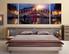 3 piece large canvas, bedroom artwork, sunrise large pictures, city huge pictures, blue art