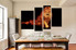 4 piece canvas print, dining room large pictures, dining room canvas photography, lion artwork, wildlife group canvas, animal decor