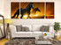 3 piece canvas wall art, living room canvas photography, horse group canvas, wildlife huge pictures, animal decor