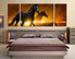 3 piece multi panel canvas, horse group canvas, bedroom large pictures, wildlife canvas wall art