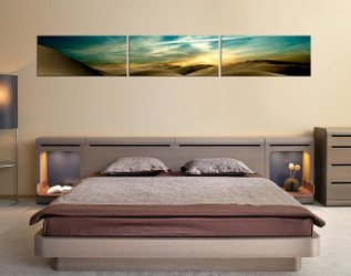 3 piece multi panel canvas, bedroom huge canvas print, landscape wall art, green huge pictures, desert photo canvas, panoramic canvas art prints