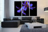 3 piece multi panel art, living room large canvas, floral large canvas, flower, flower group canvas, purple flower huge pictures