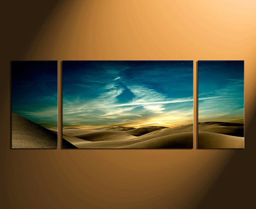 3 Piece Canvas Print, Landscape Multi Panel Art, Green Canvas Art Prints,  Desert Photo Canvas, Panoramic Canvas Wall Art