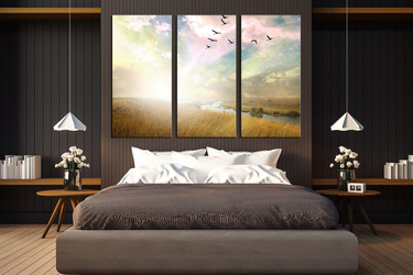 3 piece photo canvas, bedroom group canvas, scenery multi panel art, nature group canvas, bird artwork