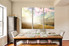 3 piece canvas wall art, dining room multi panel art, scenery group canvas, nature canvas print, birds huge pictures