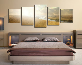 5 piece canvas wall art, bedroom multi panel canvas, scenery huge pictures, scenery canvas photography, nature art
