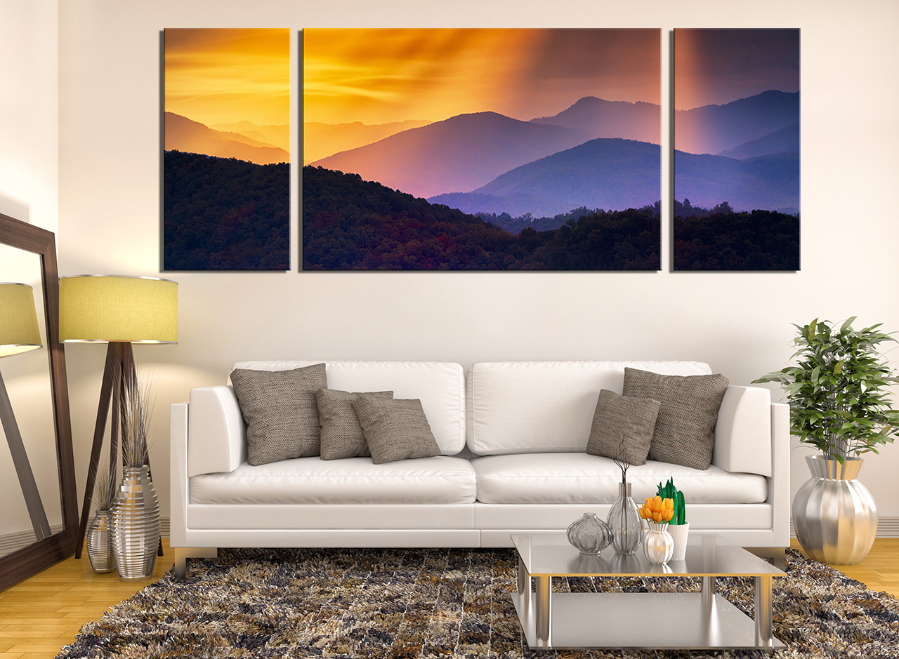 3 piece wall art landscape large pictures orange multi panel canvas mountain canvas wall art panoramic canvas photography