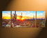 3 piece canvas wall art, home decor, scenery large pictures, saguaro cactus canvas art prints, sunrise wall decor, panoramic canvas photography