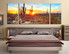 3 piece artwork, bedroom large canvas, scenery canvas art prints, saguaro cactus large pictures, sunrise canvas photography, panoramic artwork