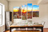 4 piece canvas print, dining room multi panel canvas, scenery photo canvas, saguaro cactus multi panel art, sunrise canvas art prints, nature large pictures