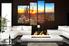 4 piece group canvas, living room huge canvas print, scenery wall art, saguaro cactus canvas wall art, sunrise art, nature canvas photography