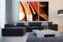 3 piece photo canvas, living room canvas wall art, living room huge canvas print, wine artwork, orange artwork