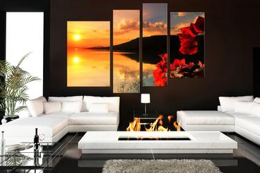 4 piece wall art canvas piece canvas wall art living room floral decor ocean pictures piece canvas wall art