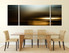 3 piece large canvas, dining room group canvas, modern photo canvas, brown abstract art