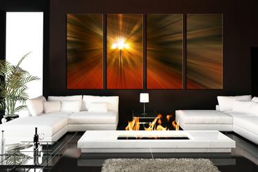 4 piece canvas art prints, living room large canvas, orange modern group canvas, abstract photo canvas, modern art