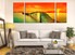 3 piece multi panel art, orange huge pictures, ocean canvas print, living room multi panel canvas, sunset wall decor