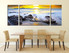 3 piece canvas wall art, yellow photo canvas, dining room large pictures, rock artwork