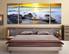 3 piece group canvas, ocean multi panel art, rock wall decor, bedroom canvas art prints, yellow sunset artwork