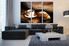 3 piece wall decor, living room canvas print, coffee large pictures, coffee cup group canvas