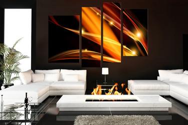 4 piece canvas wall art, modern wall art, living room wall decor, modern canvas print, brown huge canvas print