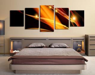 5 piece huge canvas art, modern canvas photography, bedroom multi panel canvas, brown multi panel art