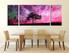 3 piece photo canvas, dining room canvas wall art, purple canvas print, nature huge canvas print, scenery artwork